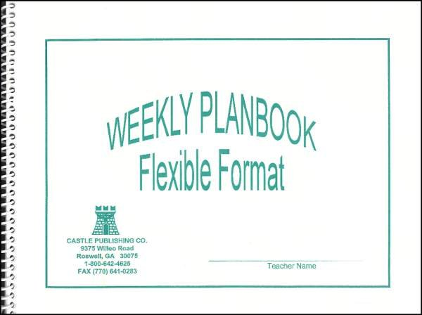 homeschool lesson planners weekly planbook flexible format / multi grade lesson planner