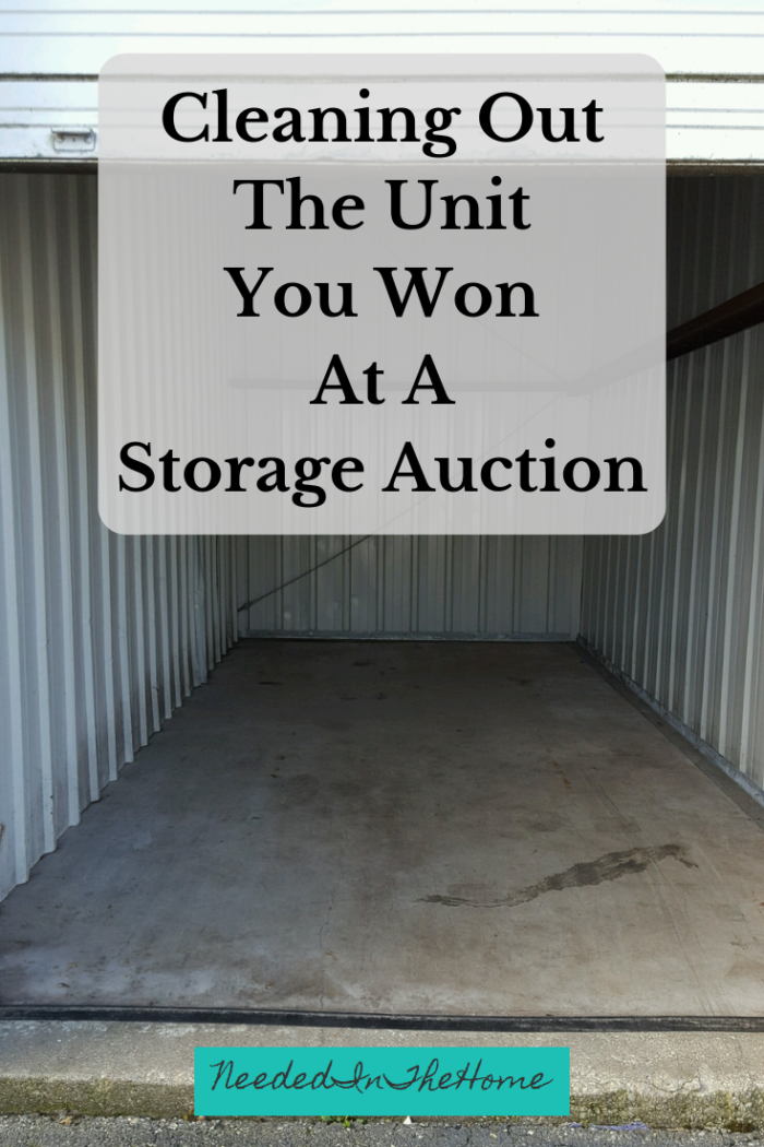 Cleaning Out the Unit You Won at a Storage Auctionempty storage locker neededinthehome