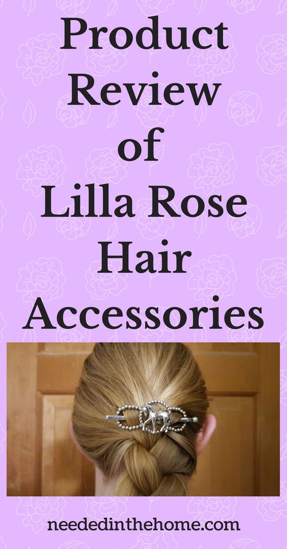 Product Review of Lilla Rose Hair Accessories image silver horse flexi clip above braid on back of woman's head neededinthehome