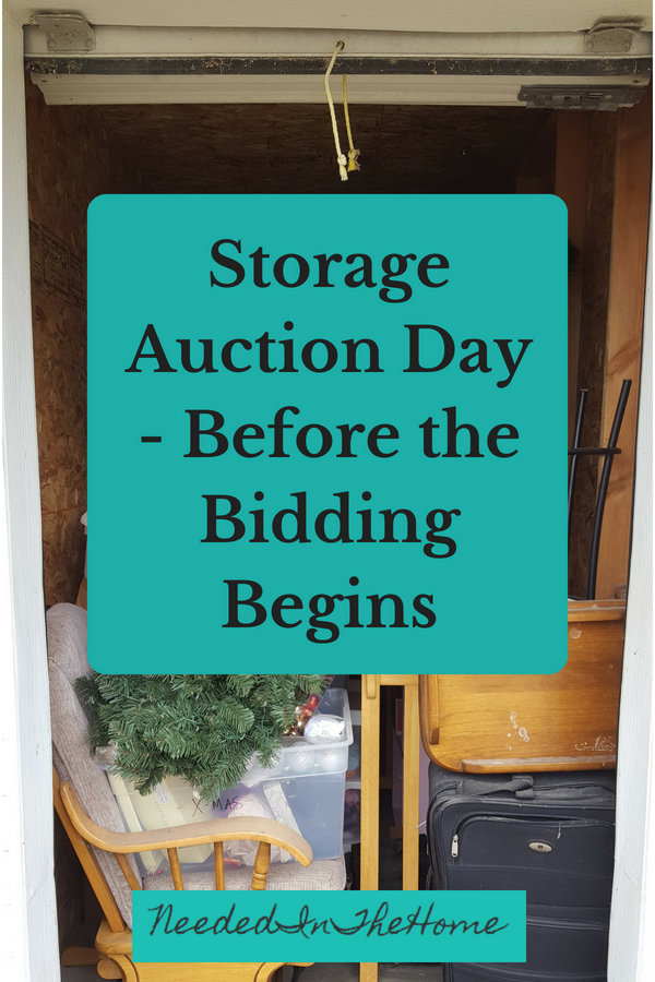 Storage Auction Day Before the Bidding Begins abandoned storage unit locker open and ready for bids neededinthehome