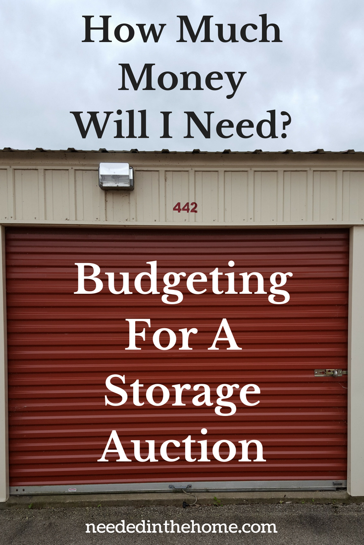 How Much Money Will I Need? Budgeting for a Storage Auction image locked storage unit door neededinthehome