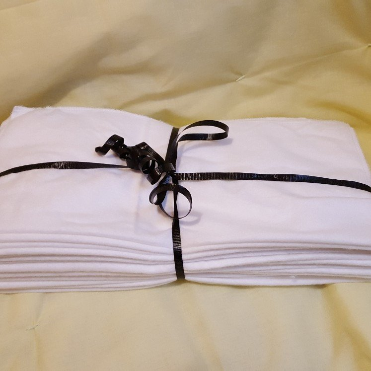 Zero waste reusable items / White Unpaper Towels / Reusable Cleaning Cloths / Cotton Flannel Unpaper Towels