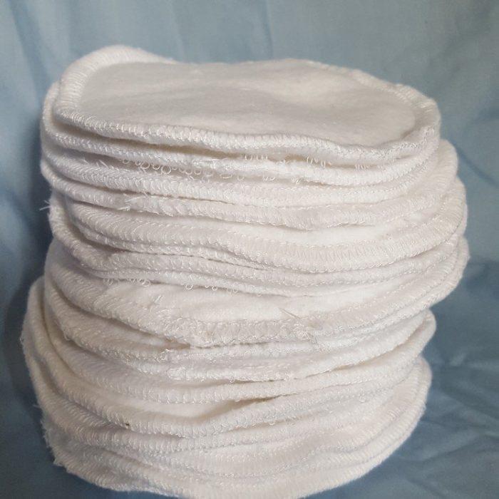 """Zero waste reusable items / Reusable 100% Cotton Nursing Pads / Reusable Cotton Breastfeeding Pads 5"""""""