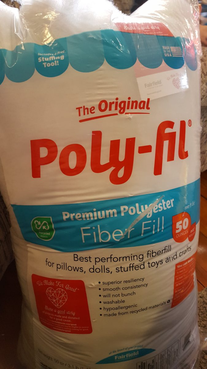 Snowman pillows can be stuffed with the original poly-fil fiber fill
