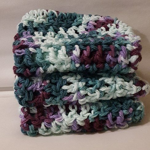 Zero waste reusable items - Reusable Crochet Cotton Washcloths / Crochet Worsted Weight Cotton Dishcloths