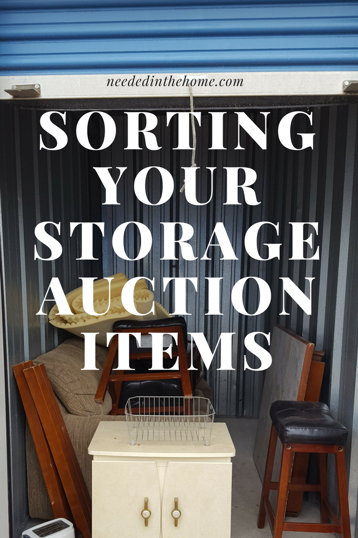 Sorting Your Storage Auction Items abandoned storage unit objects waiting to be organized and resold neededinthehome