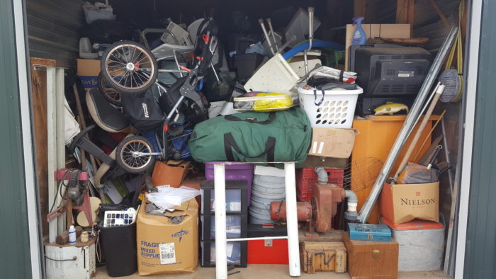 abandoned storage unit up for auction at a storage auction how to resell children's or kids' items