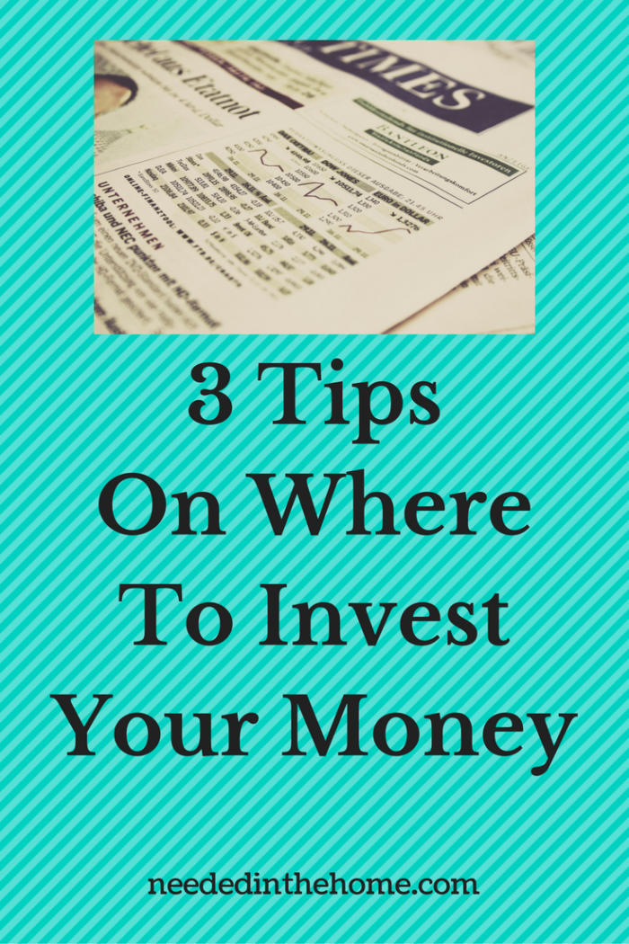 newspaper photo of stocks 3 tips on where to invest your money