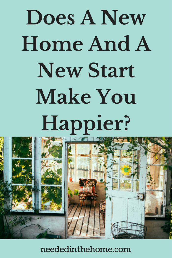 open door to a sun room with a chair Does A New Home And A New Start Make You Happier?