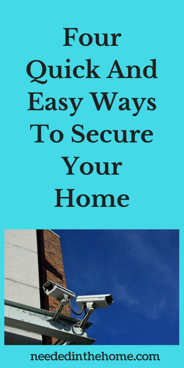 security cameral on corner of house eaves troughs Four Quick And Easy Ways To Secure Your Home