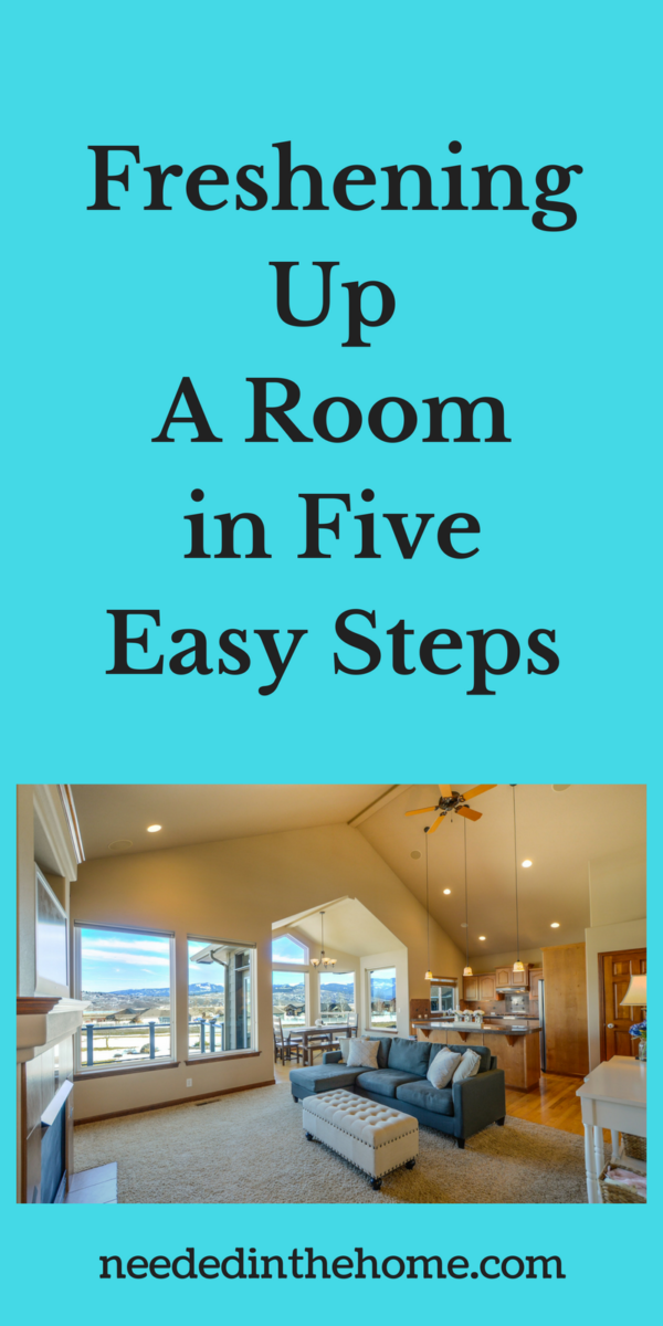 living room Freshening Up A Room in Five Easy Steps