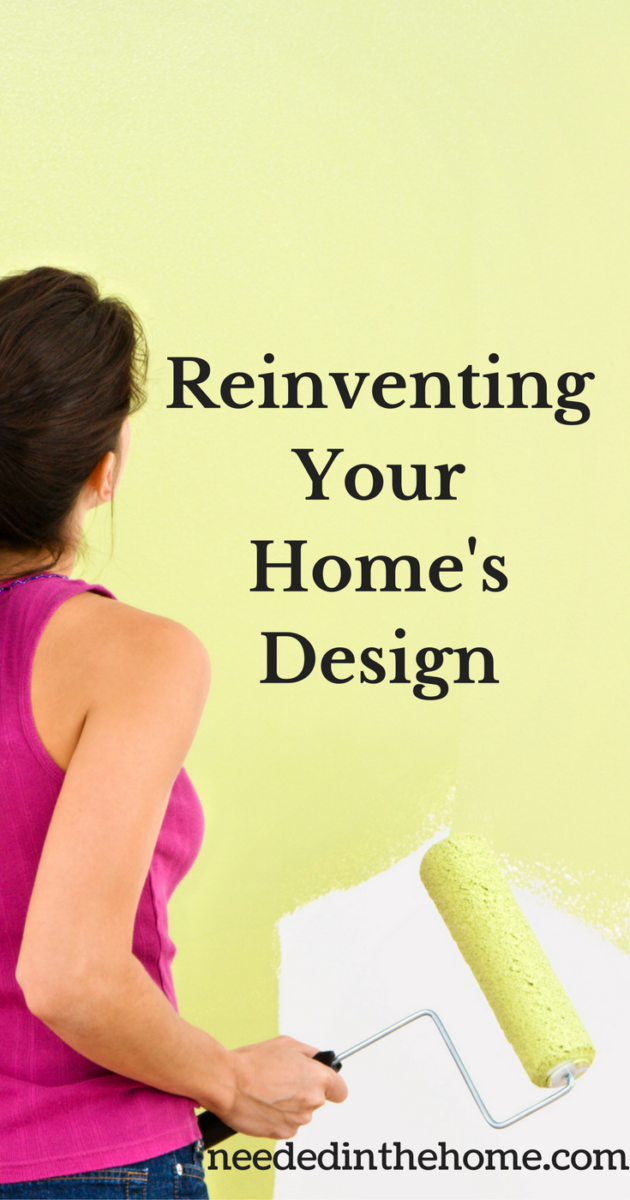 Woman painting a wall green with paint roller Reinventing Your Home's Design