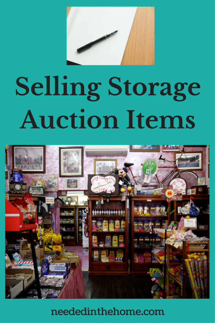 pawn shop resale store pen and paper to plan Selling Storage Auction Items