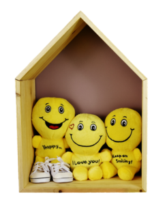 smiles laugh love happy i love you smile plush inside a house structure Does A New Home And A New Start Make You Happier?