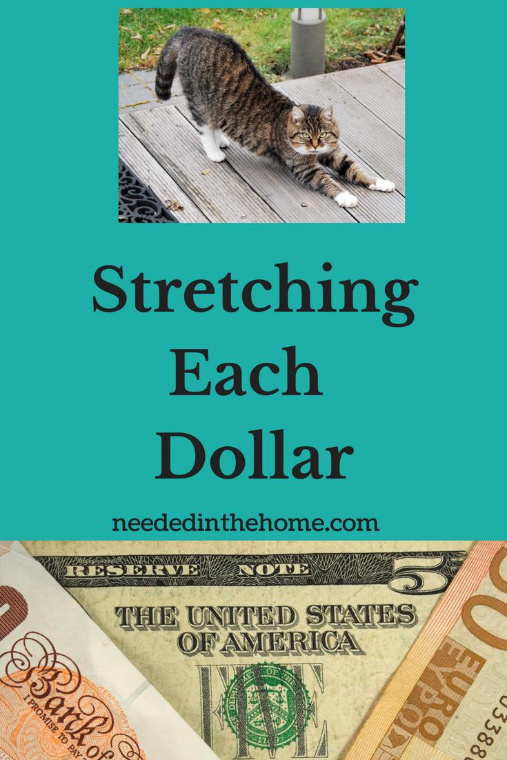Stretching Each Dollar cat stretching stretching dollars saving money frugal living ideas saving money ideas neededinthehome