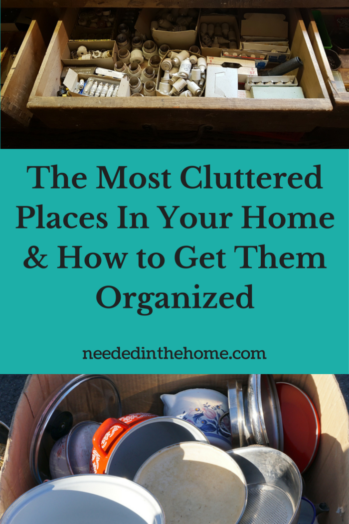 cluttered junk drawer cluttered dishes The Most Cluttered Places In Your Home & How to Get Them Organized
