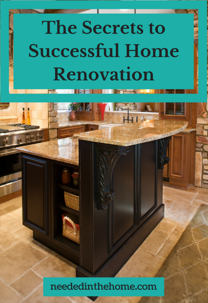 kitchen island counter The Secrets to Successful Home Renovation