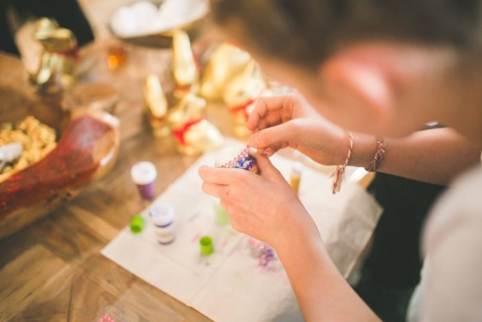 woman crafting an egg Making Money From Your Homemade Crafts