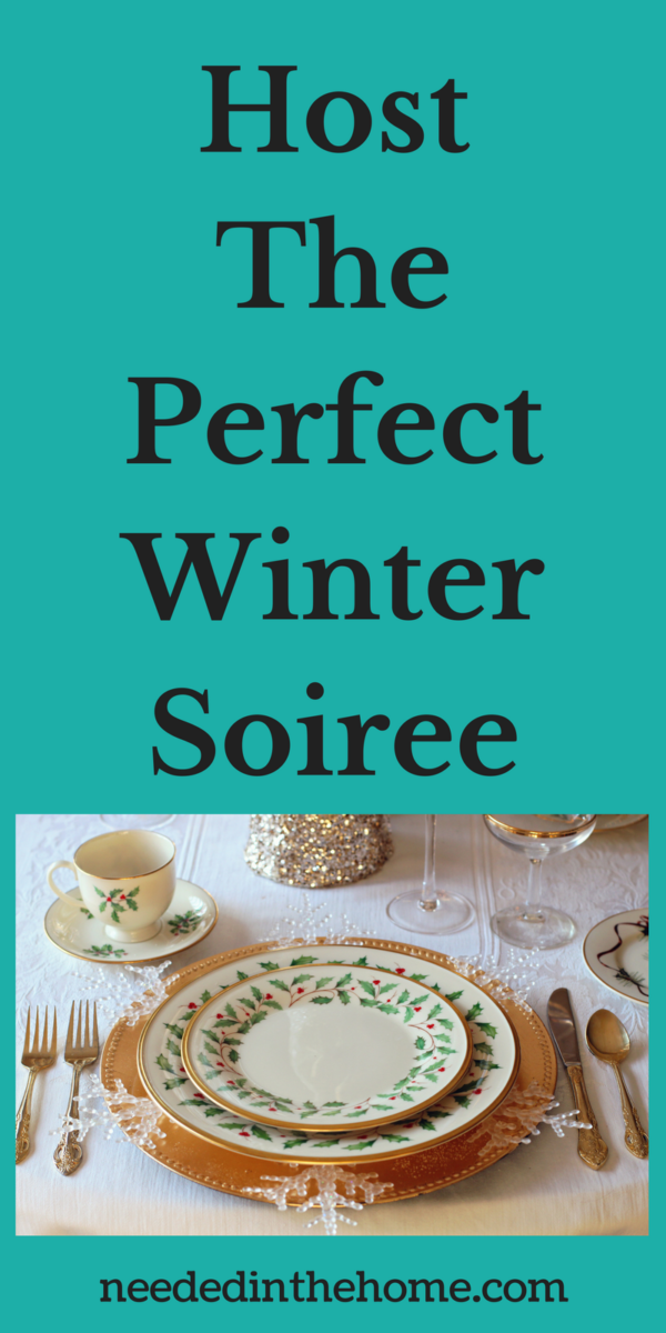 Christmas Holiday table setting Host The Perfect Winter Soiree
