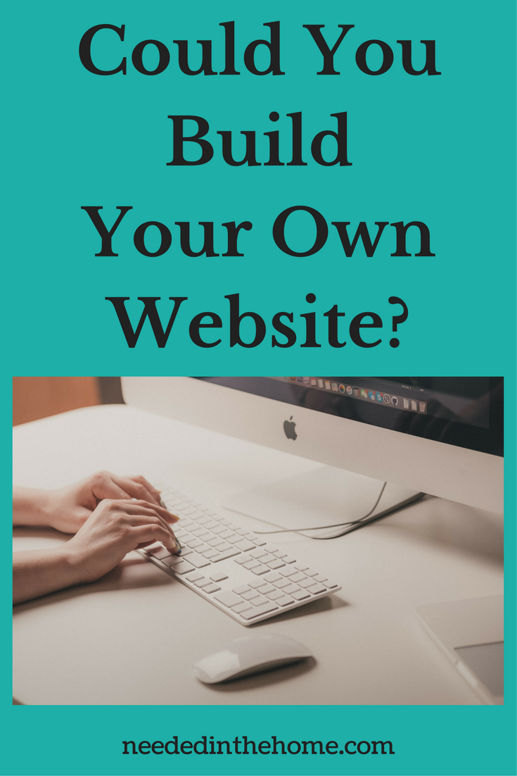 woman typing on white keyboard apple logo on monitor wireless mouse Could You Build Your Own Website?