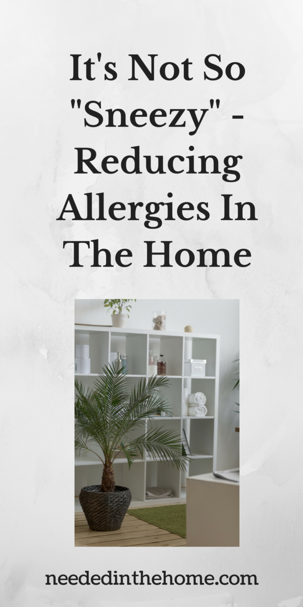 "plant in bathroom It's Not So ""Sneezy"" - Reducing Allergies In The Home"