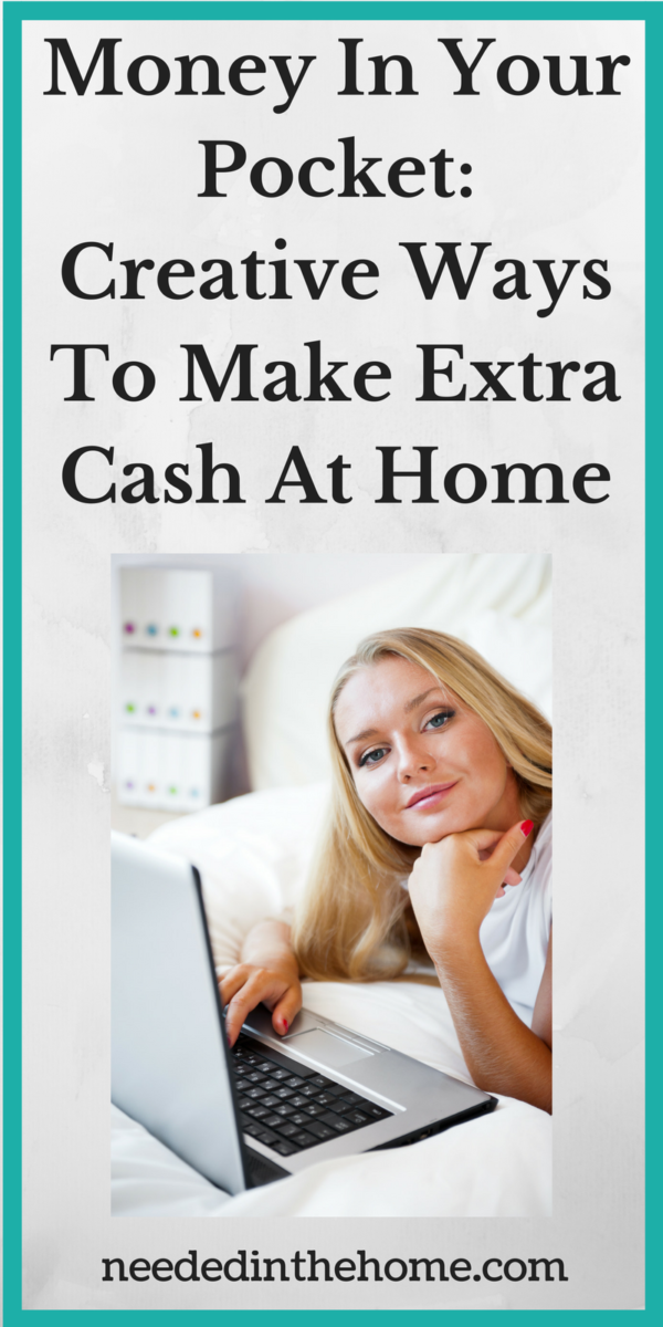woman laptop earning money from home Money In Your Pocket: Creative Ways To Make Extra Cash At Home