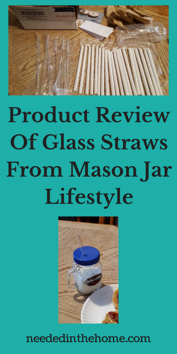 glass straws glass straw cleaners from Mason Jar Lifestyle sent by USPS packaging product review of glass straws