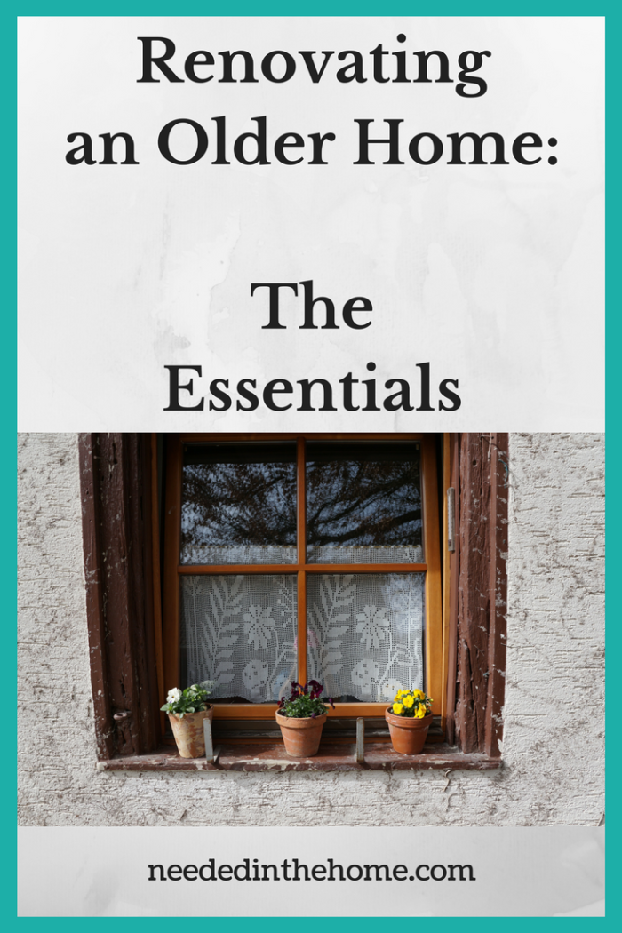 window on a house with plants in windsill Renovating an Older Home: The Essentials from NeededInTheHome