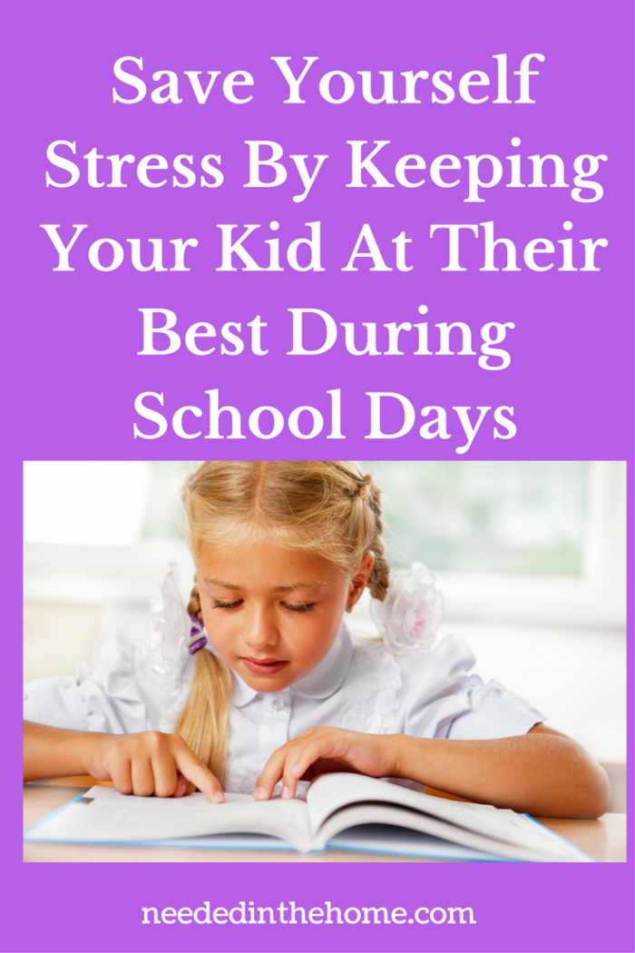 school girl reading at her desk in pig tails blond hair Save Yourself Stress By Keeping Your Kid At Their Best During School Days