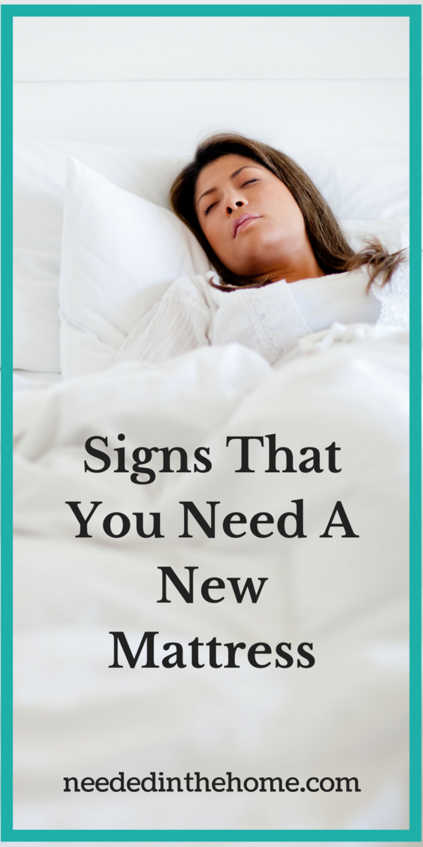 woman sleeping Signs That You Need A New Mattress from neededinthehome