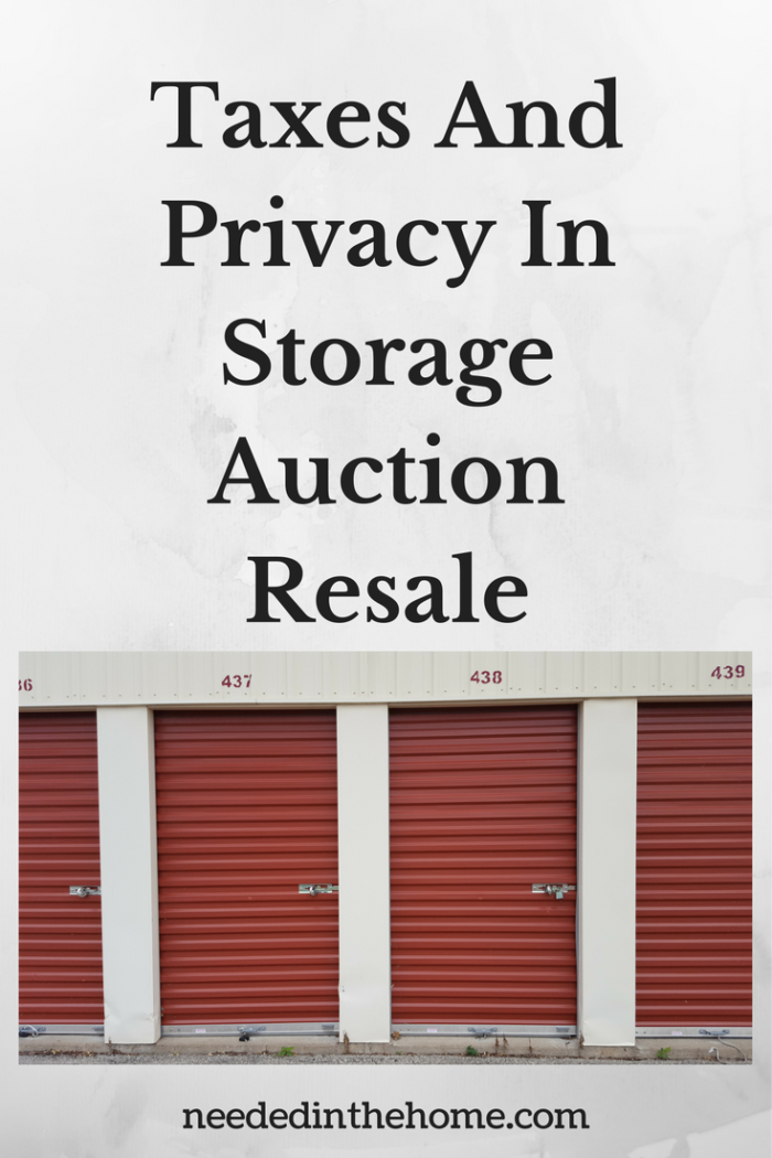 self-storage red garage doors with locks on them and numbered taxes and privacy in storage auction resale from neededinththome.com