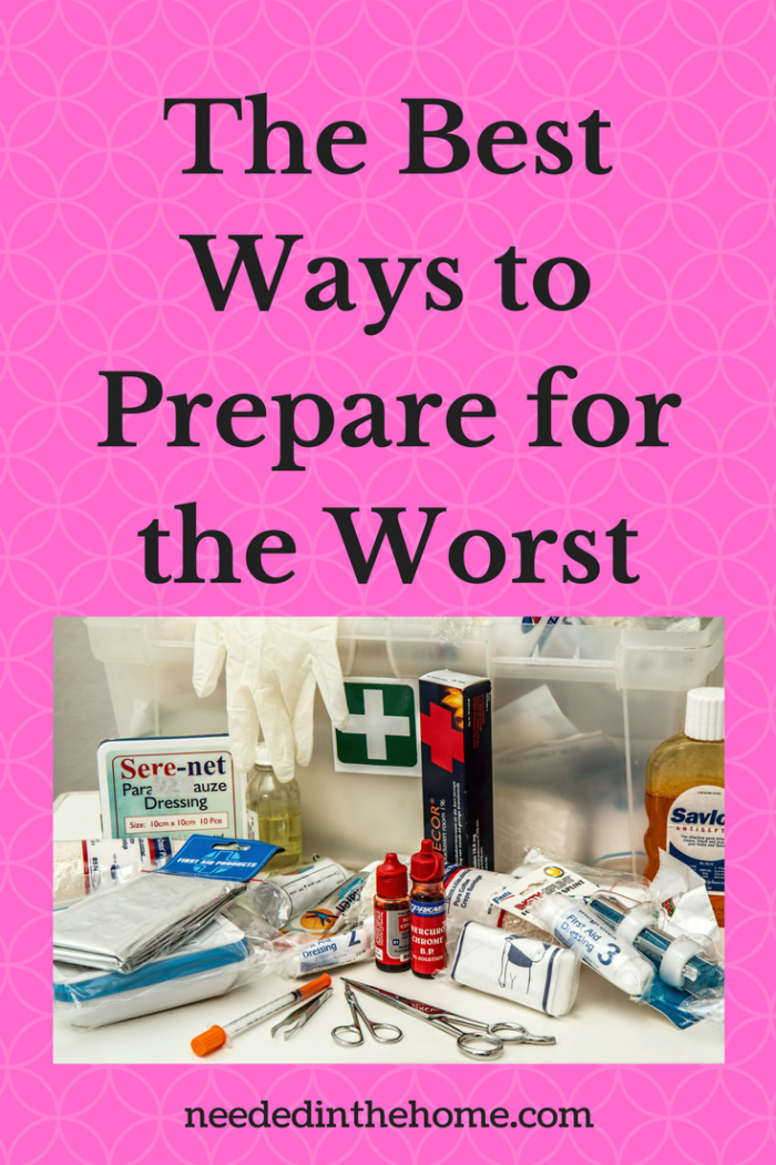 first aid kit home medical supply kit rubber gloves The Best Ways to Prepare for the Worst from NeededInTheHome
