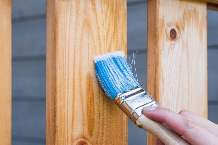 hand paintbrush varnish wood deck panels Renovating an older home