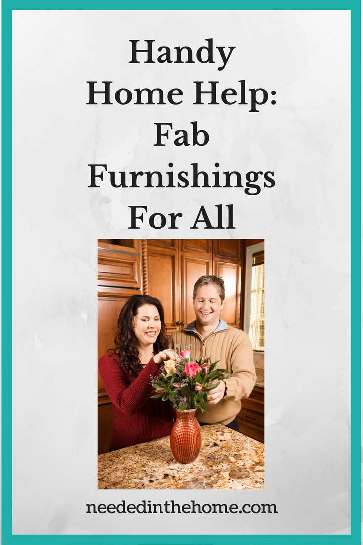 married couple creating a vase of flowers to decorate their home Handy Home Help: Fab Furnishings For All
