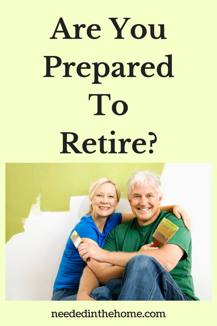 senior woman and man sitting with paintbrushes painted wall Are You Prepared To Retire? neededinthehome.com