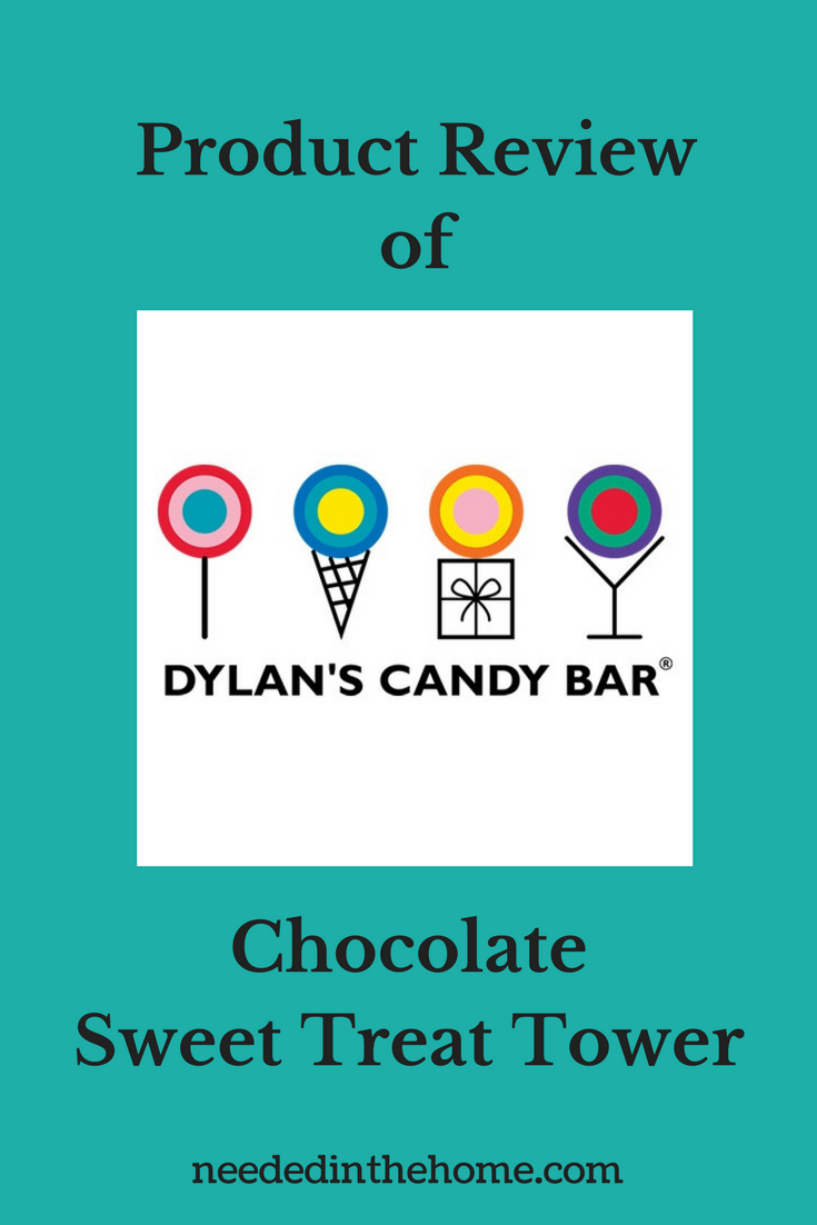 Dylan's Candy Bar logo of lollipop ice cream gift Product Review of Dylan's Candy Bar Chocolate Sweet Treat Tower from neededinthehome.com