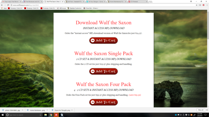 Product Review of Wulf The Saxon audiobook by Heirloom Audio Productions screenshot with information on the product