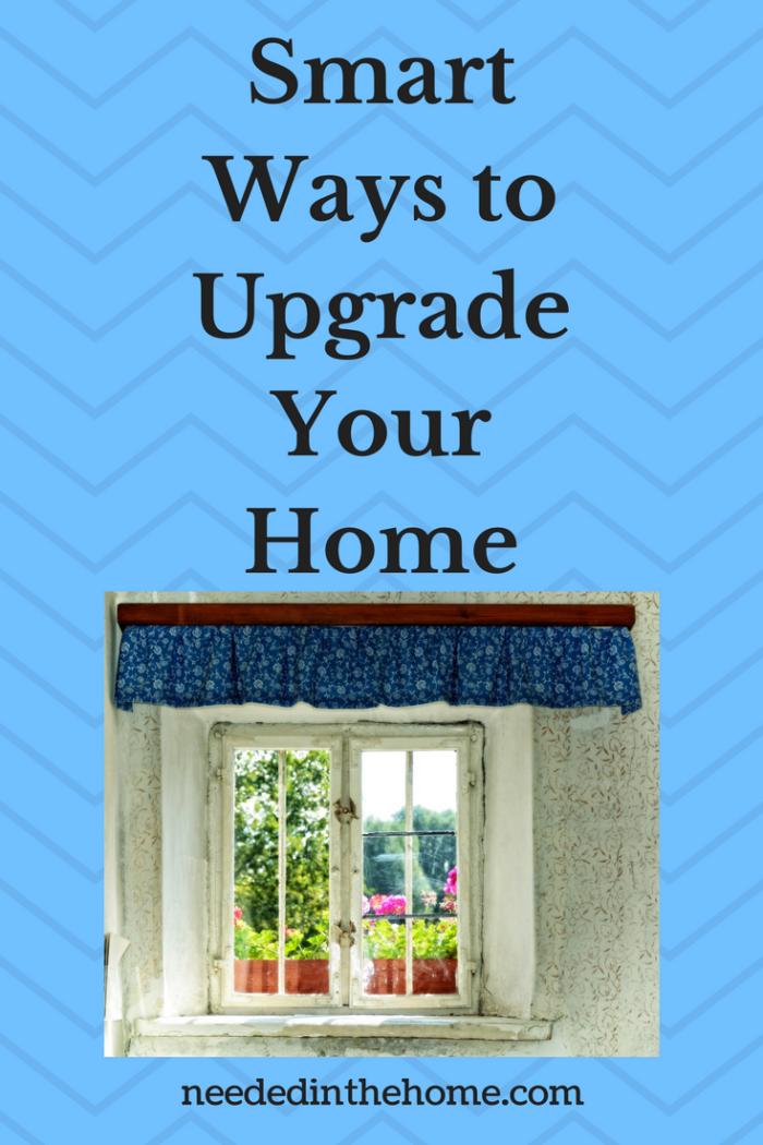 window valance curtains plants Smart Ways to Upgrade Your Home neededinthehome.com