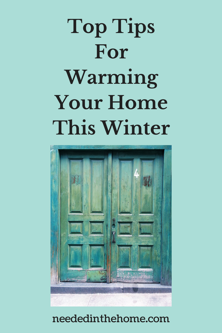 front door with cracks around it letting cold air in Top Tips For Warming Your Home This Winter neededinthehome.com