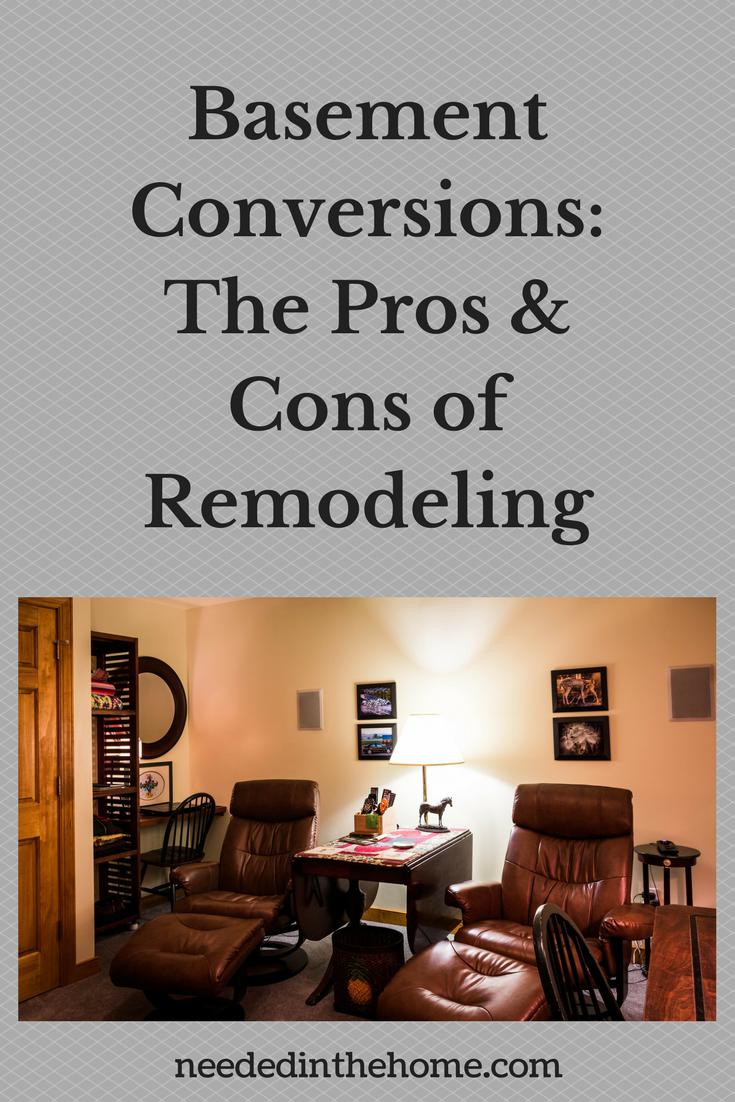 lounging chairs in a remodeled finished basement Basement Conversions: The Pros & Cons of Remodeling neededinthehome