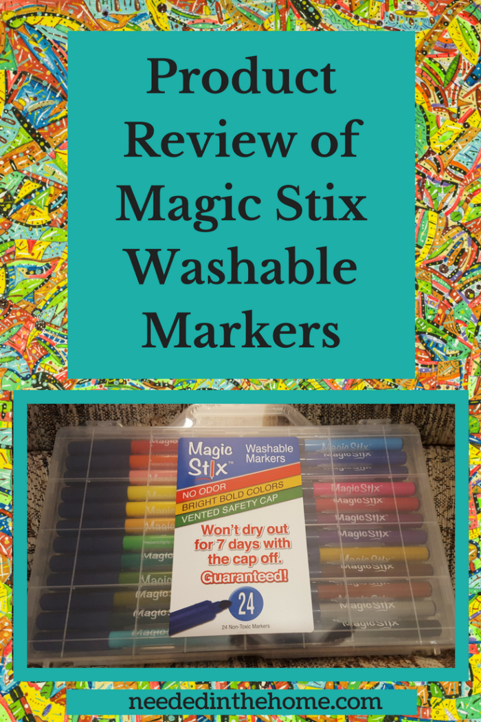 markers Product Review of Magic Stix Washable Markers washable markers won't dry out for 7 days with the cap off guaranteed neededinthehome
