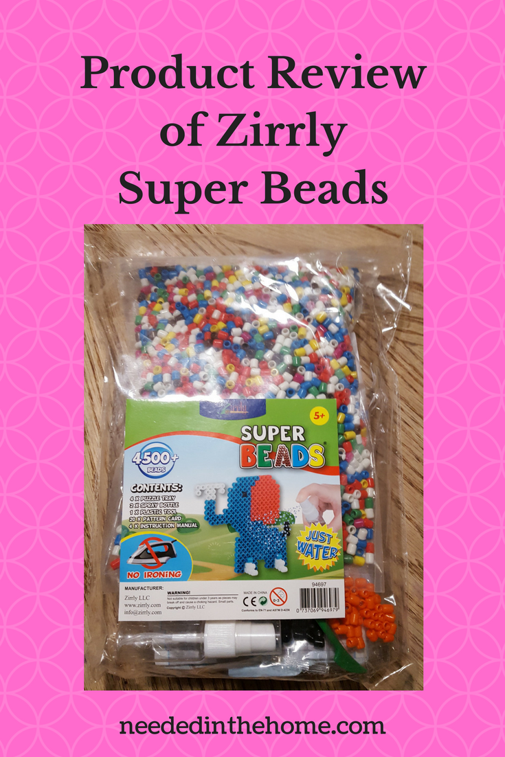 Product Review of Zirrly Super Beads front of factory sealed new package neededinthehome