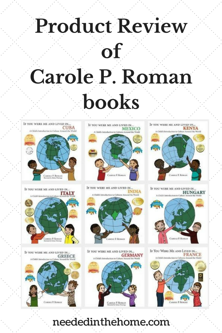 Product Review of Carole P. Roman Books children's geography history books illustrated neededinthehome
