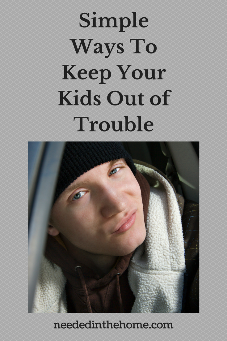 Simple Ways To Keep Your Kids Out Of Trouble smirky teen boy black stocking hat neededinthehome