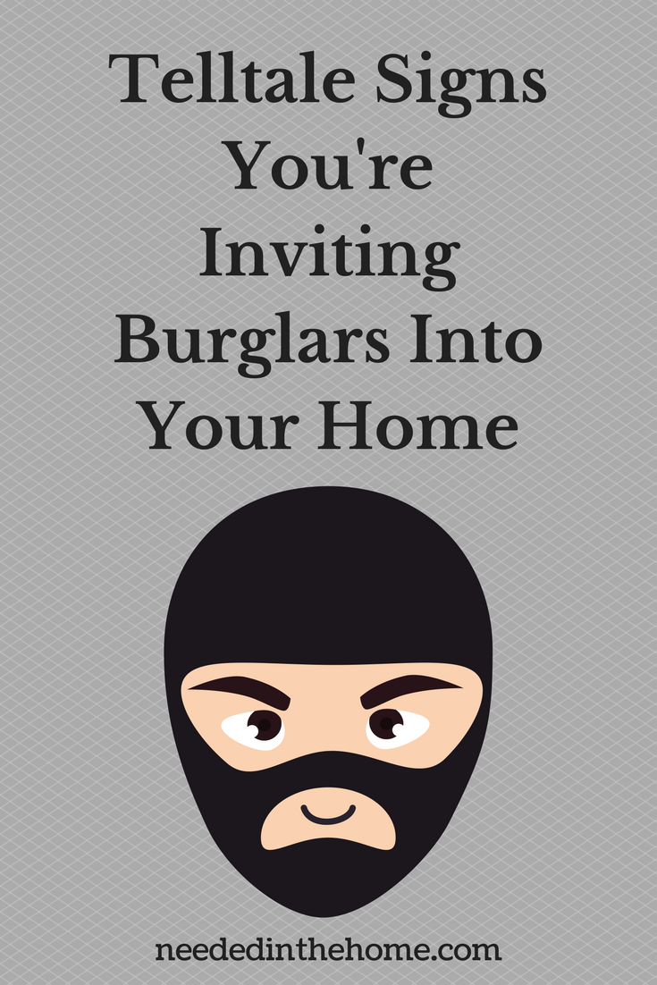 masked man illustration Telltale Signs You're Inviting Burglars Into Your Home neededinthehome