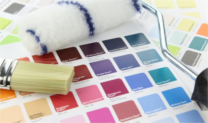 color palette for paint paintbrush roller moving into a new home