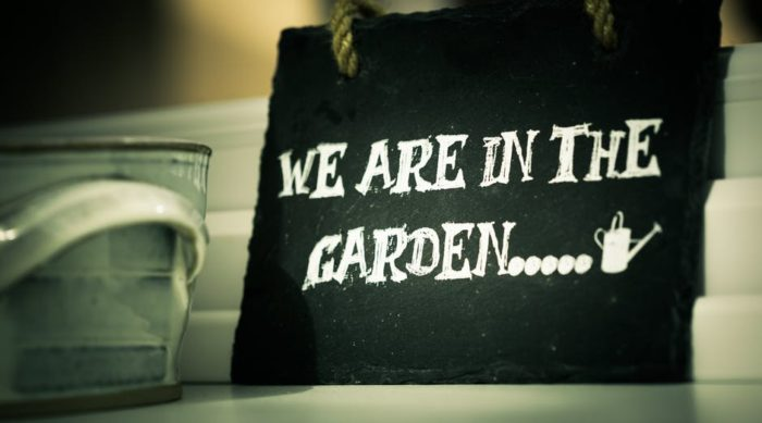 sign we are in the garden more color is better in the garden garden decor