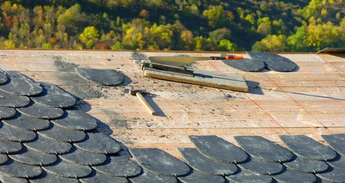 Home Maintenance In The Spring check the shingles on the roof shingle repair tools