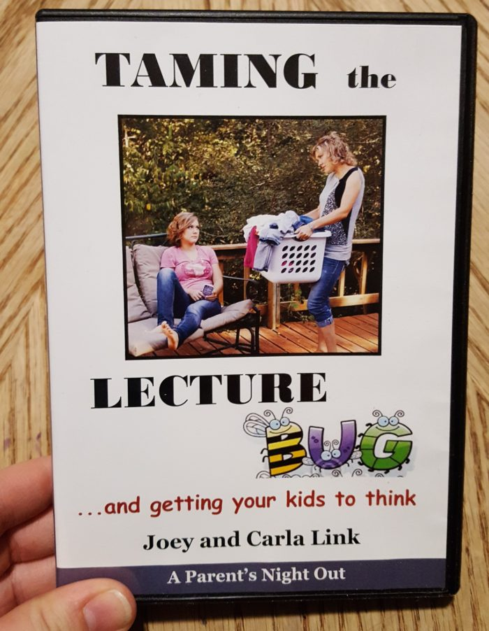 DVD review Taming The Lecture Bug and getting your kids to think by Joey and Carla Link Parenting Made Practical