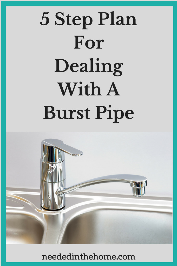 Burst Pipe 5 Step Plan For Dealing With A Burst Pipe faucet on stainless steel sink neededinthehome